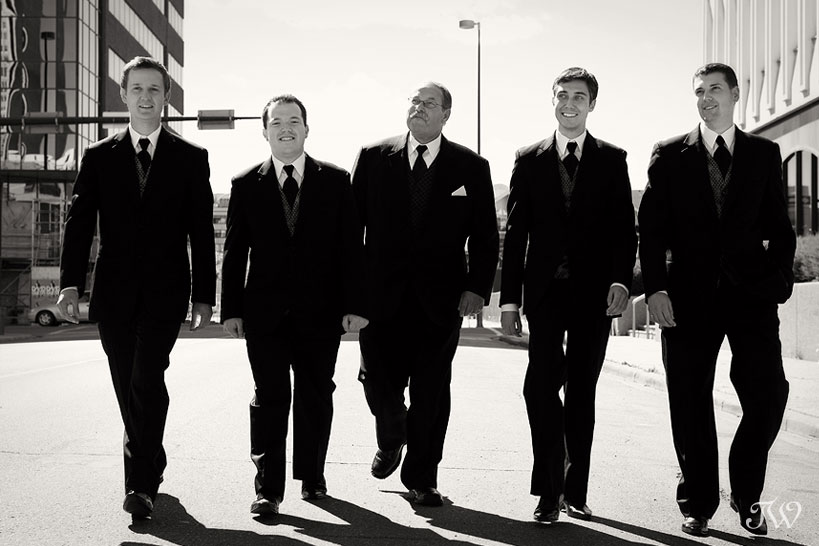Calgary-wedding-photographer-at-hotel-arts-groomsmen