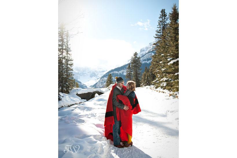 lake-louise-engagement-pictures-hudson-bay-blanket-07