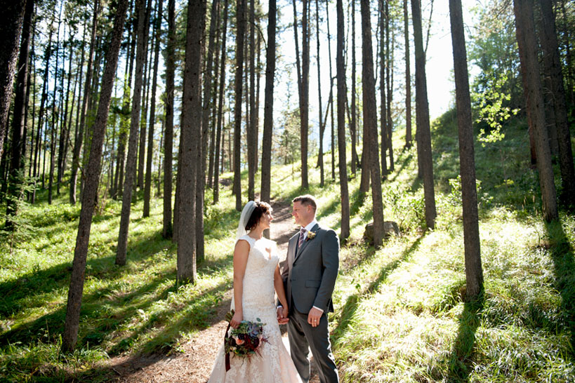 mountain wedding captured by Calgary wedding photographer Tara Whittaker