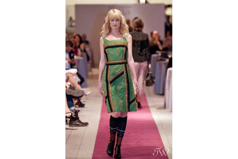 Model in Holt Renfrew fashion show Tara Whittaker Photography