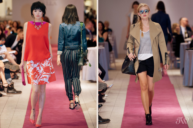 2 models in springs fashions from Holt Renfrew Tara Whittaker Photography