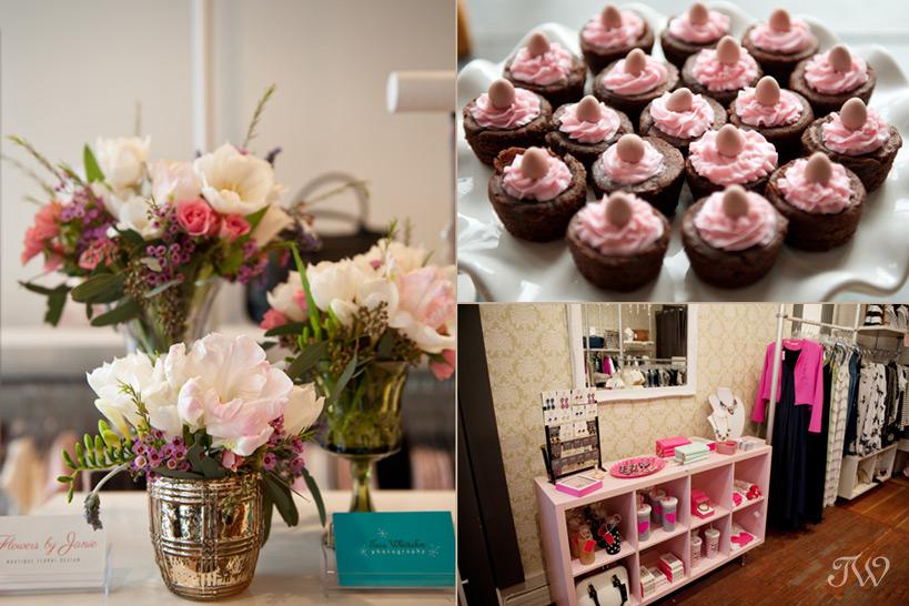 flowers and desserts Tara Whittaker Photography