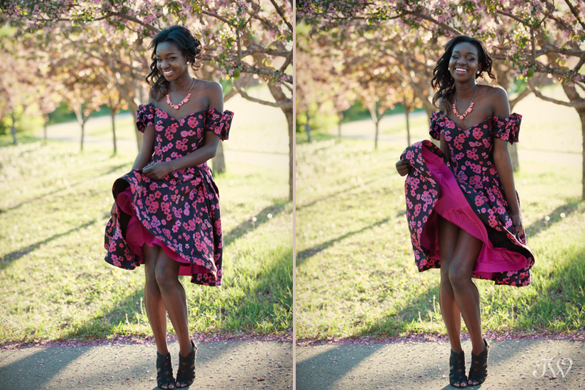bridesmaid wearing pink floral dress captured by Tara Whittaker Photography