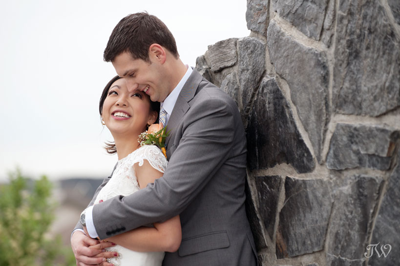 bride and groom captured by Tara Whittaker Photography
