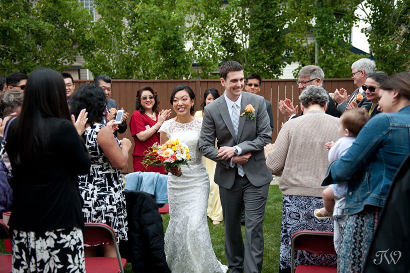 the newlyweds captured by Tara Whittaker Photography