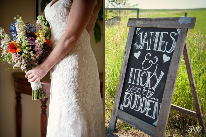 wildflower bouquet captured by ranch wedding photographer Tara Whittaker