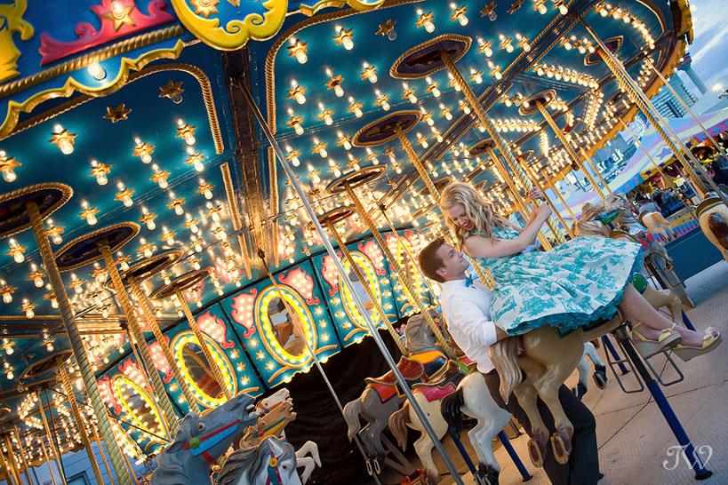 Calgary photos on a carousel captured by Tara Whittaker Photography