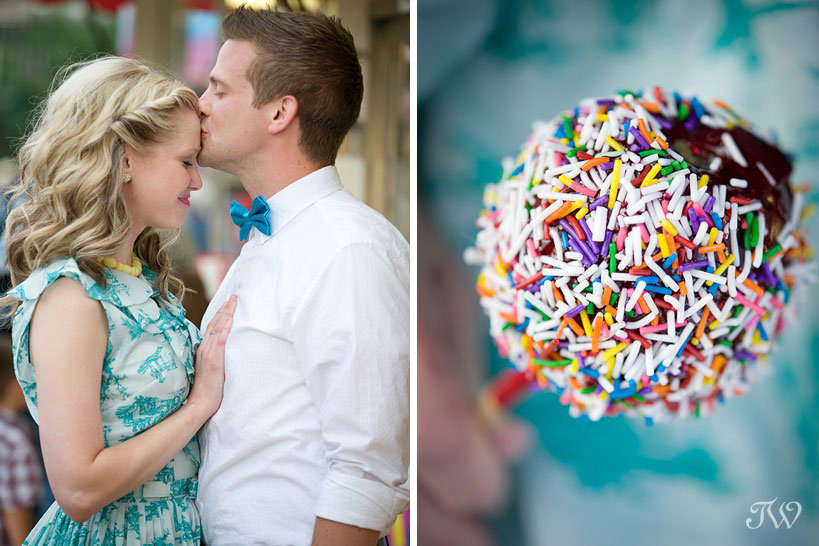 candy apple at the Calgary Stampede captured by Tara Whittaker Photography
