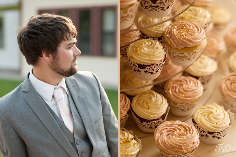 groom at his Heritage Park wedding captured by Tara Whittaker Photography