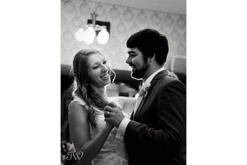 bride and groom dancing at the Wainwright Hotel captured by Tara Whittaker Photography
