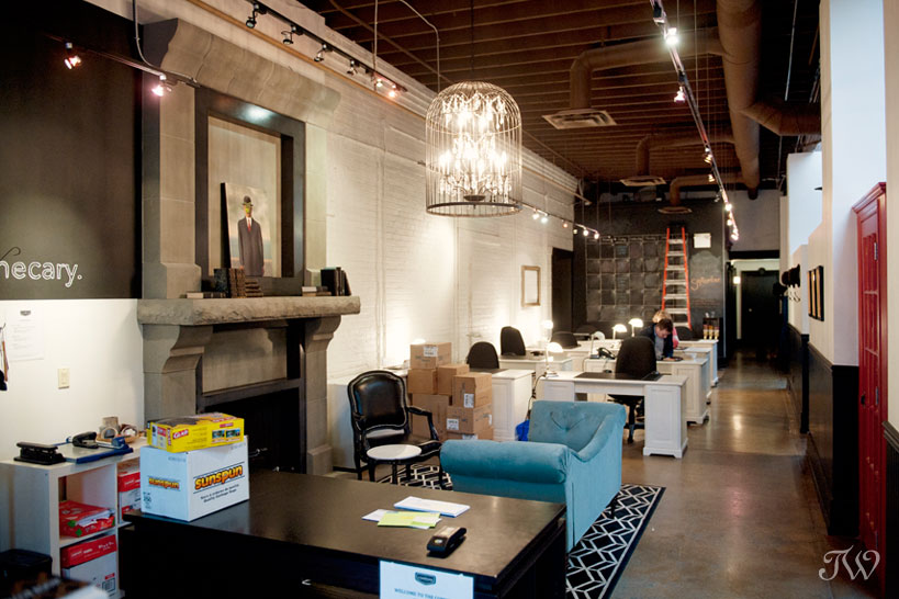 Industrial wedding venue in Calgary captured by Tara Whittaker Photography