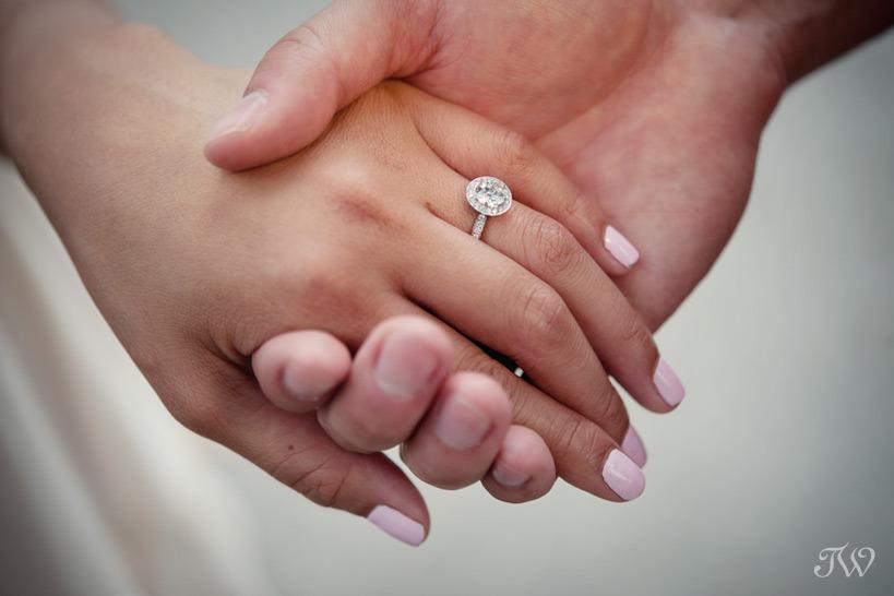 diamond engagement ring captured by Tara Whittaker Photography