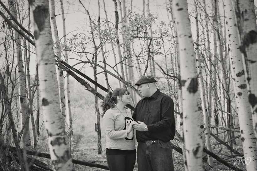 couple pose during their engagement session with Tara Whittaker Photography