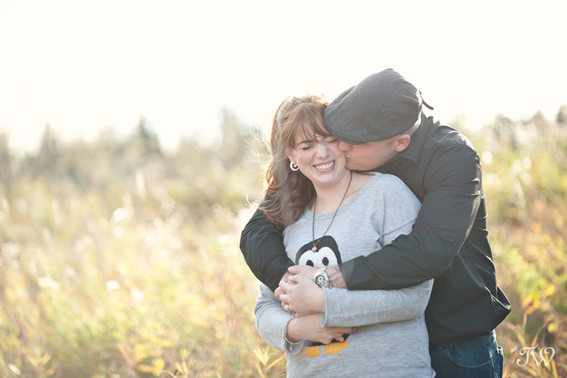 Fish Creek Park engagement session captured by Tara Whittaker Photography