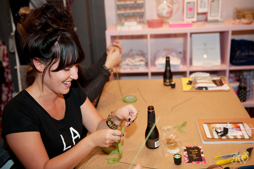 guest preparing wire at Adorn workshop captured by Tara Whittaker Photography