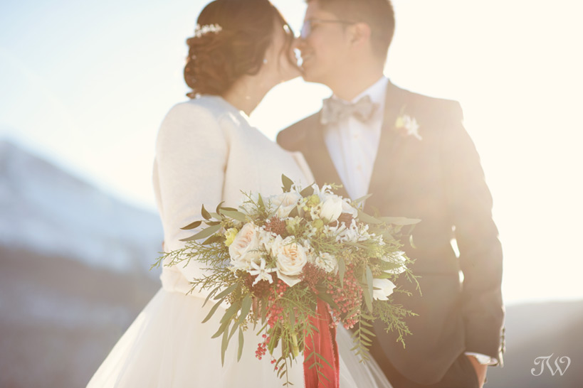 winter wedding bouquets for Rocky Mountain weddings captured by Tara Whittaker Photography