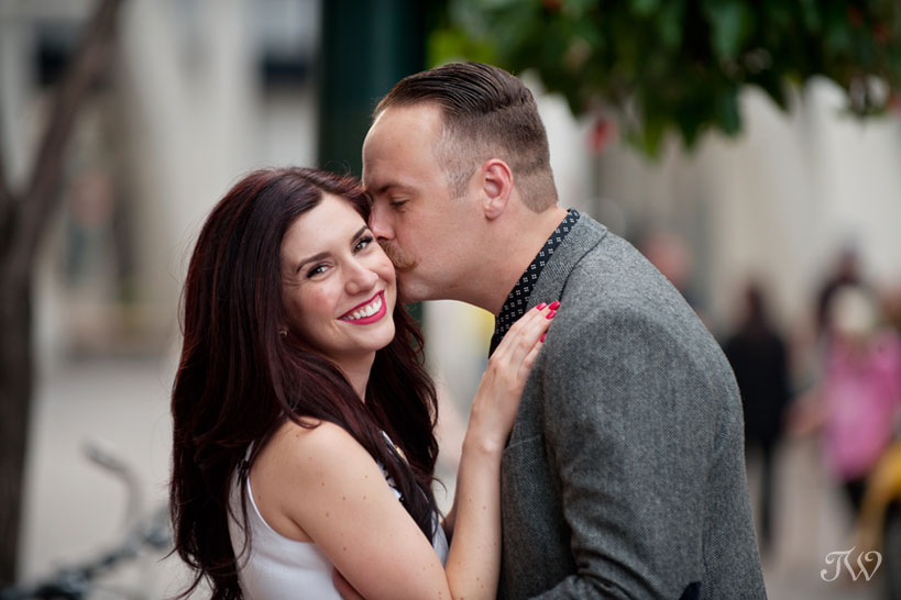 happy couple during engagement photos captured by Tara Whittaker Photography