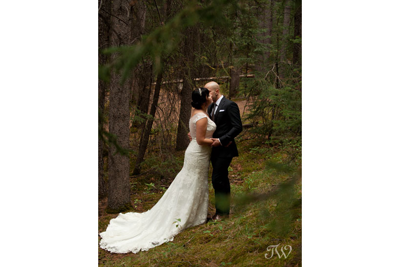 bride and groom after their Banff wedding captured by Tara Whittaker Photography