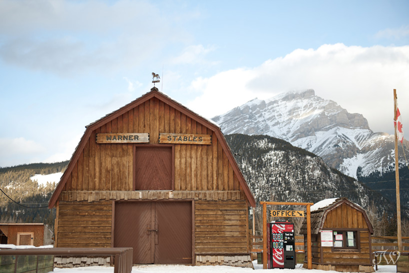 Warner Stables in Banff captured by Tara Whittaker Photography