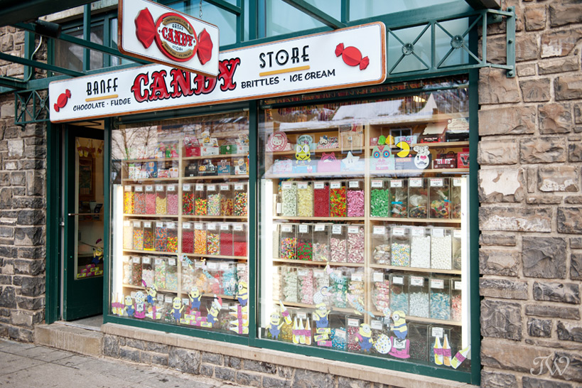 Banff candy store captured by Tara Whittaker Photography