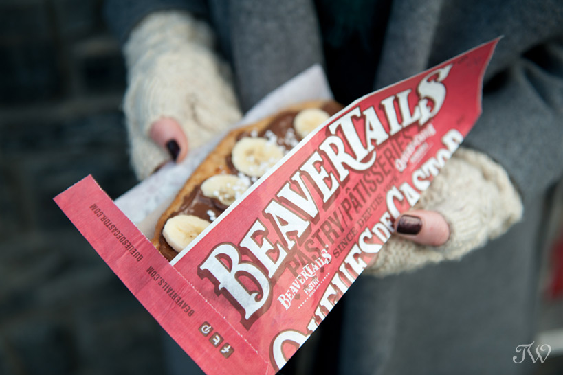 Beavertails pastry on Banff Avenue captured by Tara Whittaker Photography