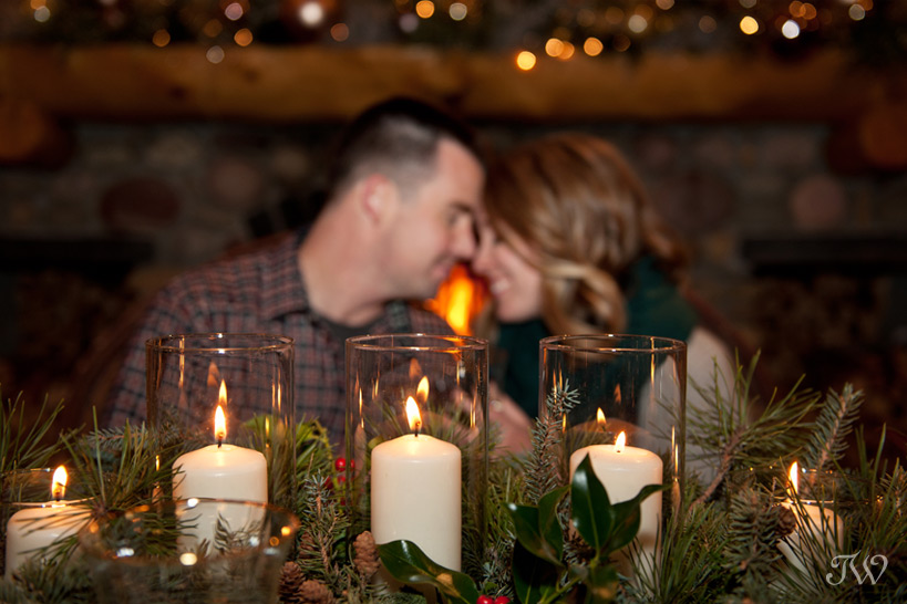 Romantic dinner at Buffalo Mountain Lodge captured by Tara Whittaker Photography