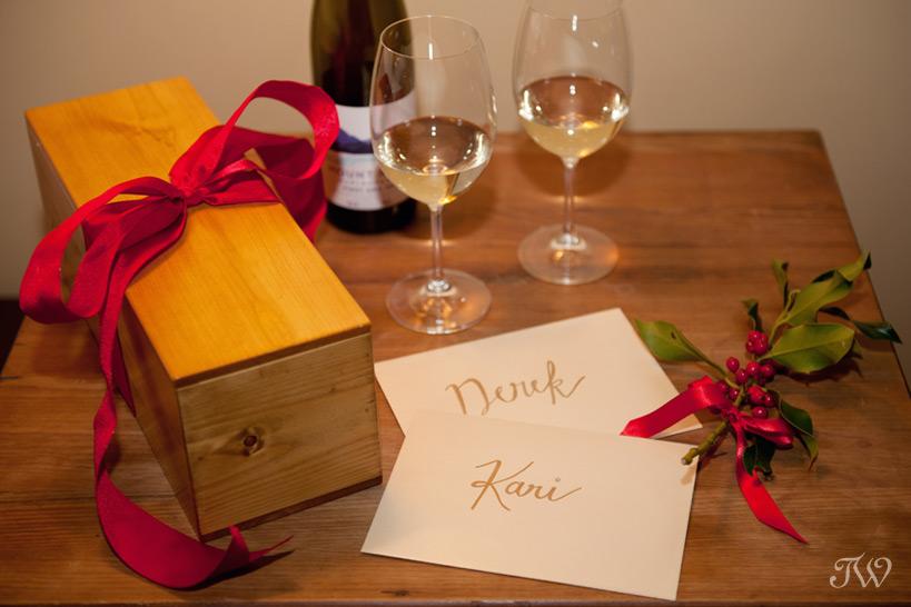 custom wine box by Naturally Chic captured by Tara Whittaker Photography