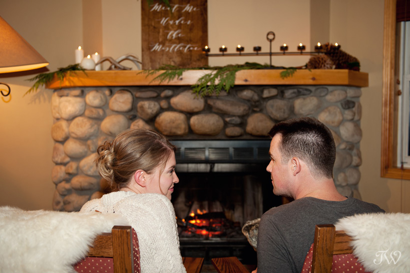 cozy mountain lodge in Banff captured by Tara Whittaker Photography