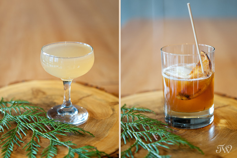 cocktails from Bar C in Calgary captured by Tara Whittaker Photography