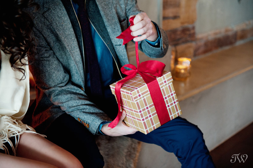Christmas gift opening at The Lake House captured by Tara Whittaker Photography