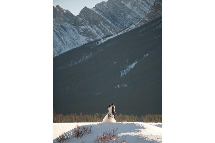 mountain wedding at Spray Lakes captured by Tara Whittaker Photography