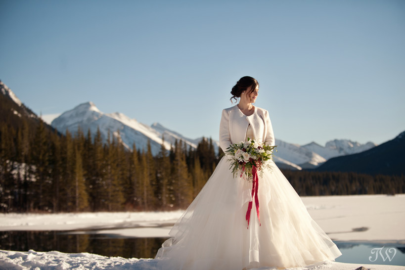 winter bride wearing hayley Paige captured by Tara Whittaker Photography