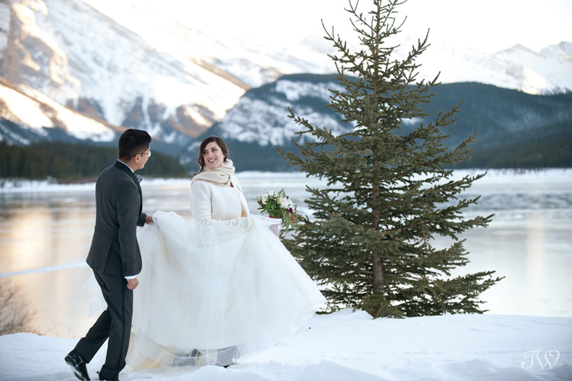 bride and groom at their rocky mountain wedding captured by Tara Whittaker Photography