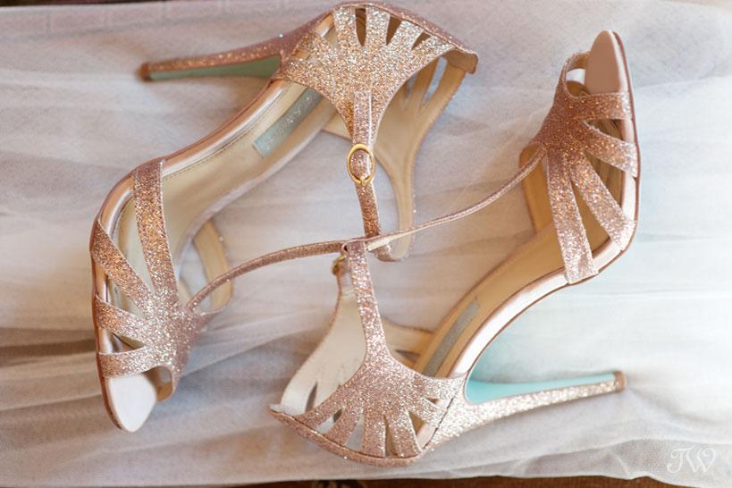 Betsey Johnson wedding shoes captured by Tara Whittaker Photography