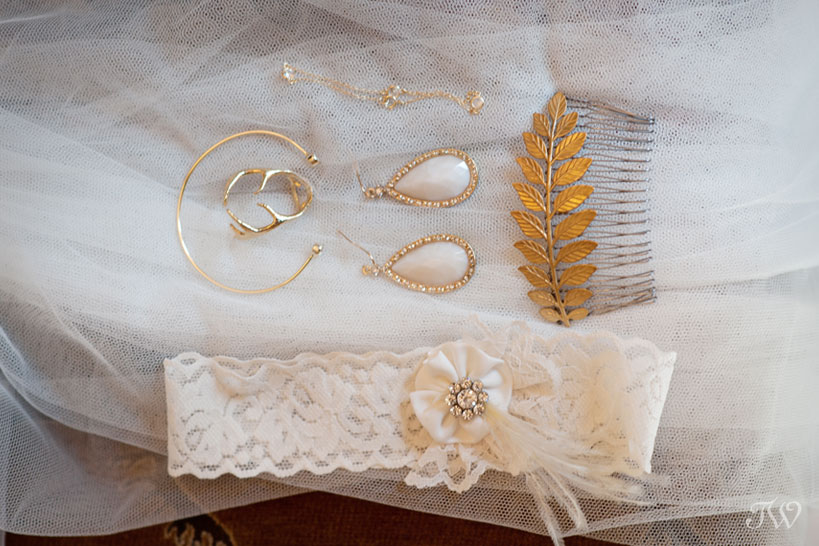 Flatlay of wedding details captured by Tara Whittaker Photography