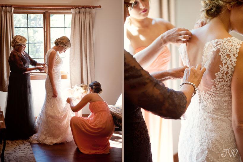 Fernie bride prepares for her wedding captured by Tara Whittaker Photography