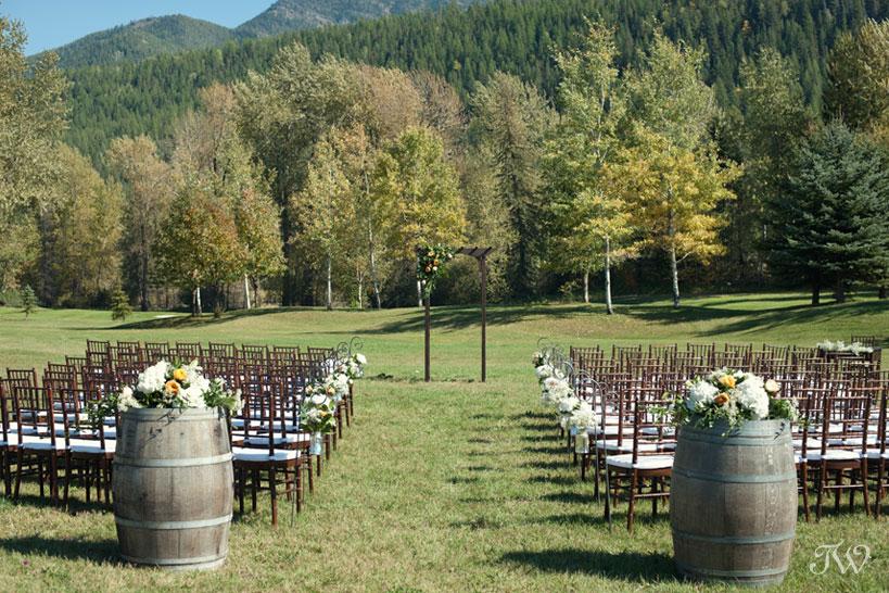 Wedding ceremony site in Fernie British Columbia captured by Tara Whittaker Photography