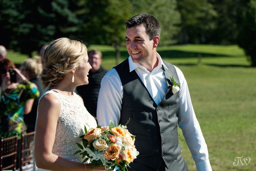 bride and groom pronounced husband and wife captured by Tara Whittaker Photography