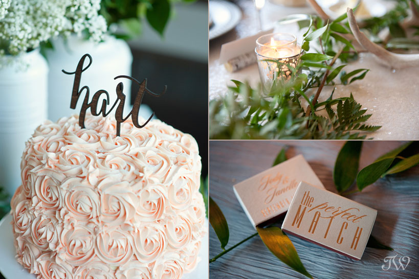 Fernie wedding details planned by Mountain Bride captured by Tara Whittaker Photography