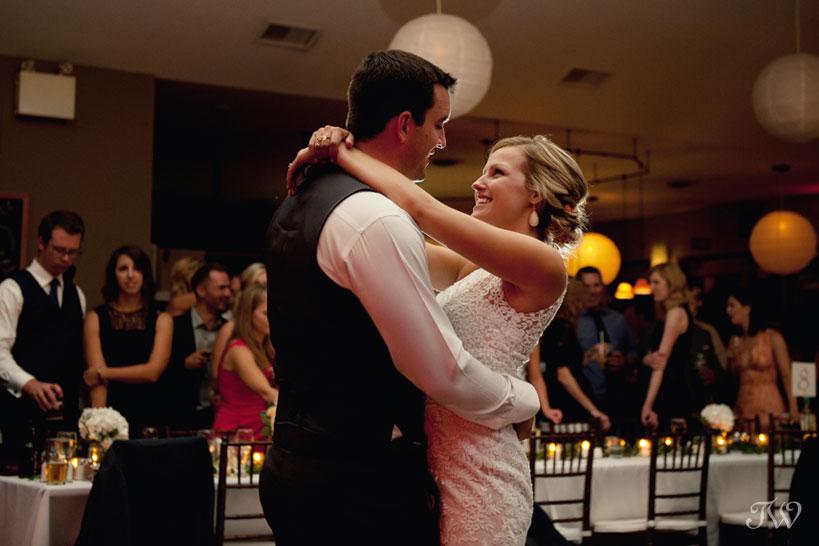 First dance at Fernie wedding captured by Tara Whittaker Photography