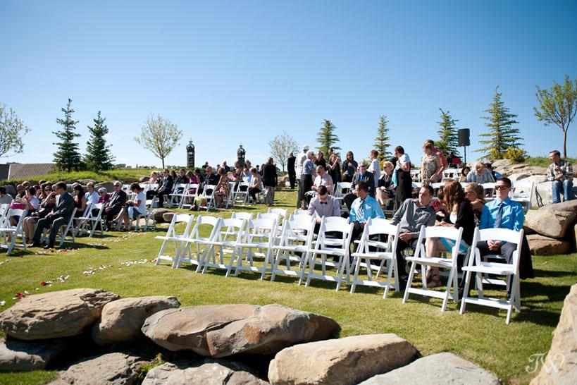 Ceremony site captured by Blue Devil Golf Club wedding photographer