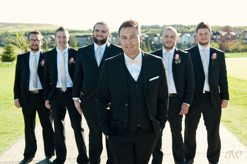 Groom with his groomsmen captured by Tara Whittaker Photography