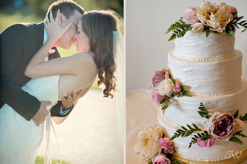 Wedding cake by Cakeworks captured by Tara Whittaker Photography