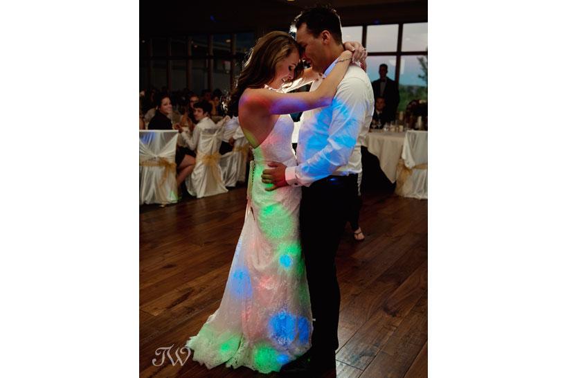 First dance captured by Blue Devil Golf Club wedding photographer