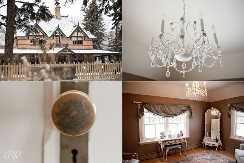 The Tsuu T'ina bride's room at Bow Valley Ranche captured by Tara Whittaker Photography