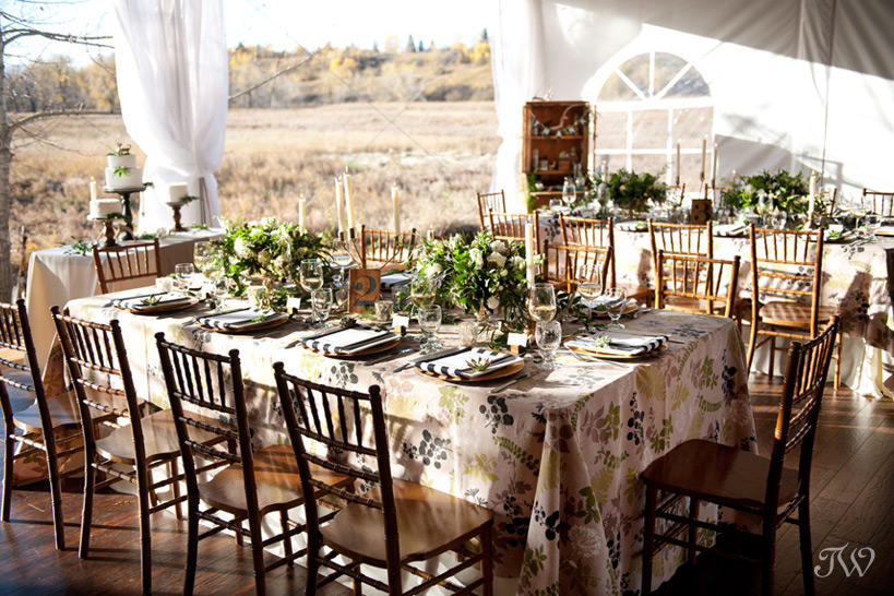 Meadow Muse wedding reception captured by Calgary wedding photographer Tara Whittaker