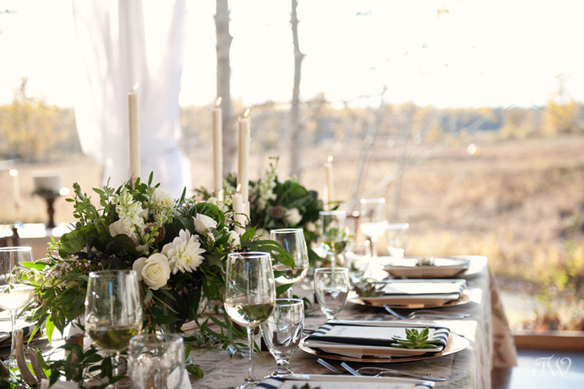 Table settings at Meadow Muse Pavilion captured by Tara Whittaker Photography