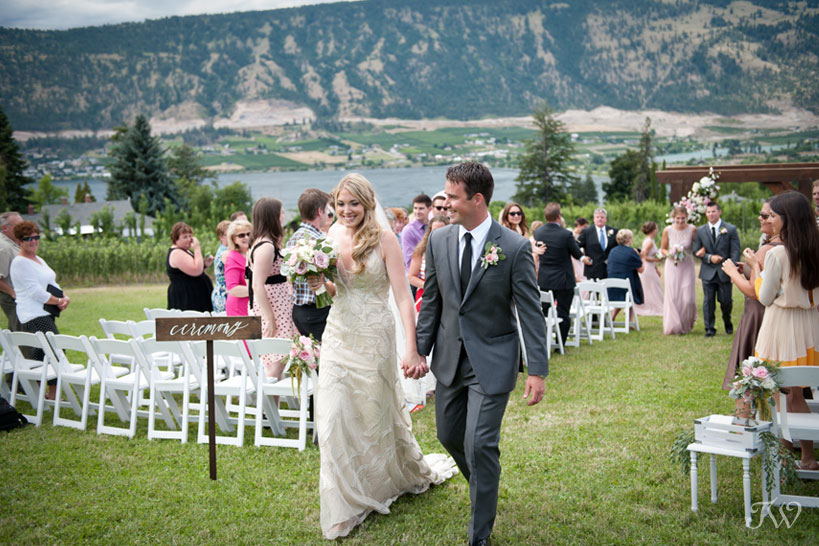 newly married couple at their Kelowna wedding captured by Tara Whittaker Photography
