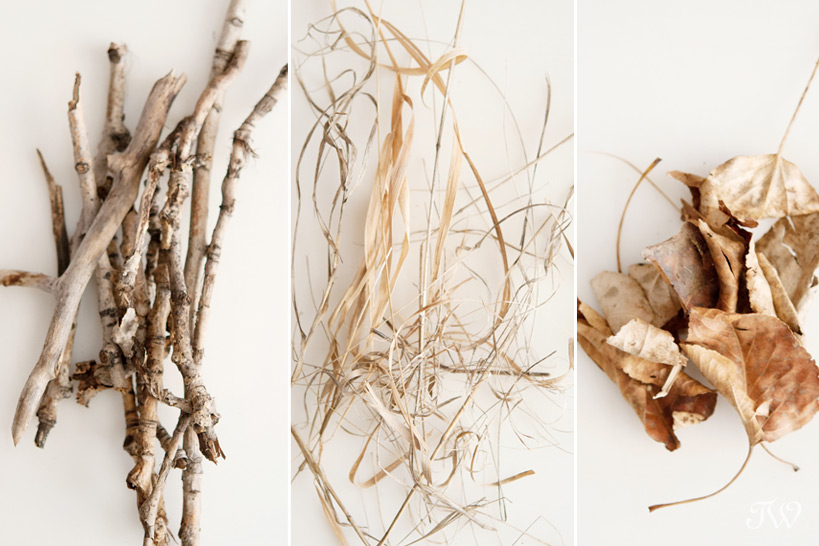 DIY projects nest supplies needed captured by Tara Whittaker Photography