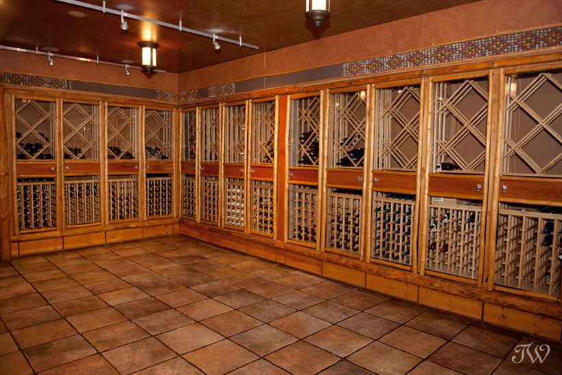 Wine Cellar at Buffalo Mountain Lodge captured by Tara Whittaker Photography